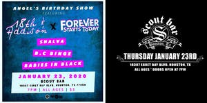 Angel's Birthday Show featuring 18th & Addison, Forever Starts Today & more