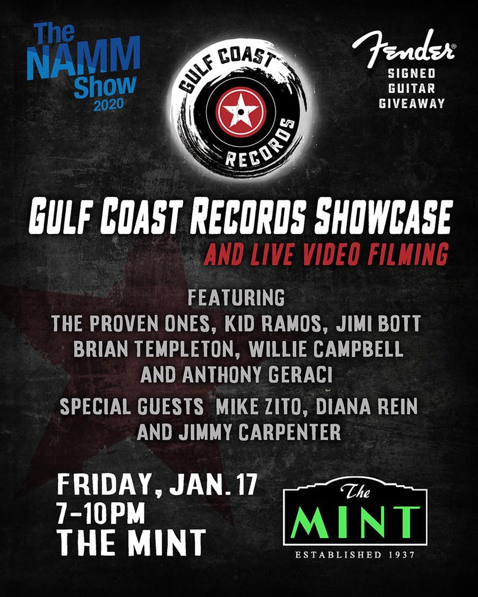 Gulf Coast Records Showcase and Live Video Recording feat. The Proven Ones