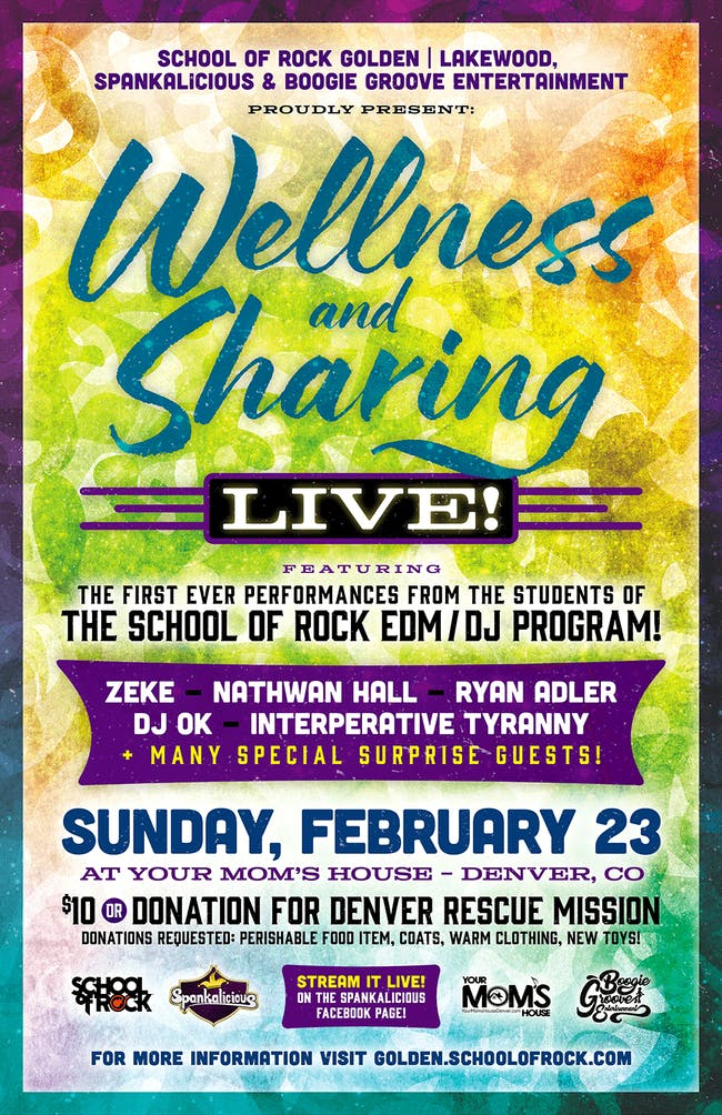 School of Rock Wellness and Sharing Live at YMH