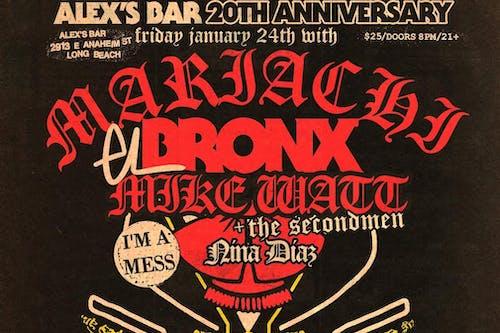 Alex's Bar 20th Anniversary Show: MARIACHI EL BRONX + more!