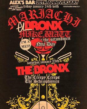 Alex's Bar 20th Anniversary Show: THE BRONX + The Creepy Creeps & more!
