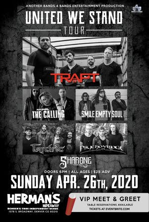 Trapt, The Calling, Tantric, Smile Empty Soul and Psycho Village