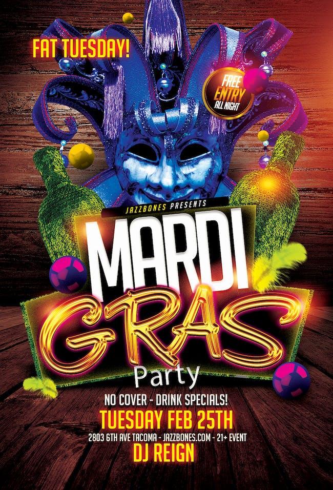 Fat Tuesday Mardi Gras Party - Dj Reign
