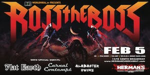ROSS THE BOSS w/ Flat Earth | Carnal Contempt | Alabaster Swine