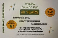 SHARPSTOWN High School Reunion Class of 1980