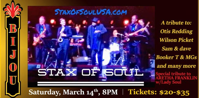THIS SHOW WILL HAPPEN!!! Stax of Soul - Tribute to Stax Record Label