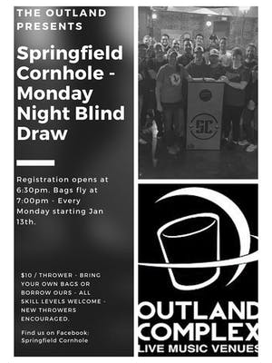 Springfield Cornhole - Monday Night Blind Draw @ Outland Ballroom