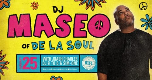 DJ Maseo (De La Soul) w/ Joash Charles, DJ 9 To 5 & Sim-One