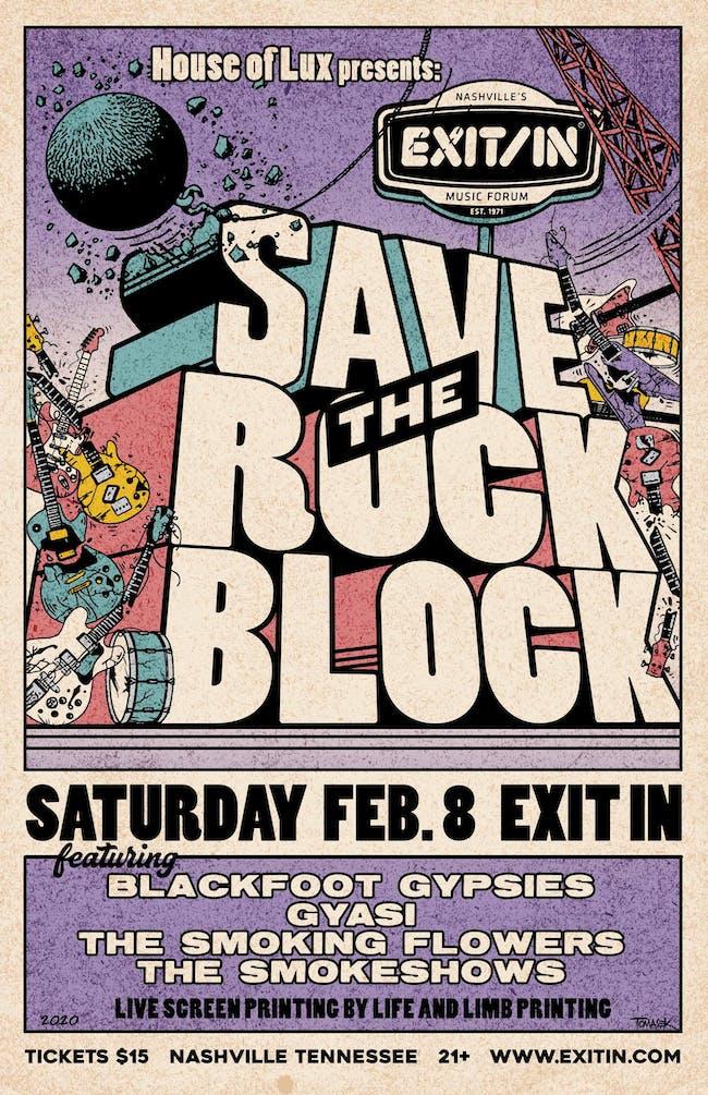 Save the Rock Block Benefit Show