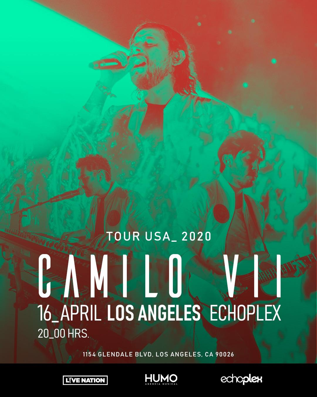 POSTPONED: Camilo Septimo – Tour USA 2020