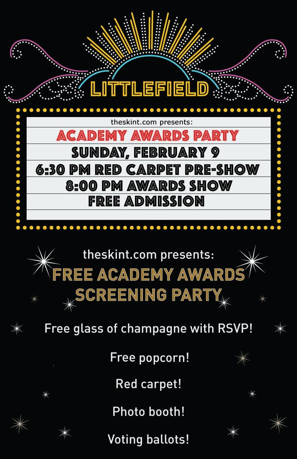 theskint.com presents: Free Academy Awards Screening Party