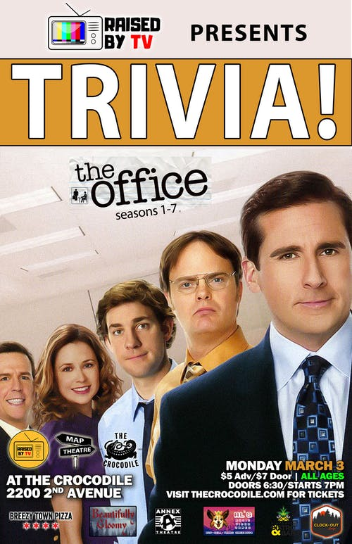 The Office S:1-7 Trivia Night! @ The Back Bar