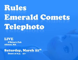 Rules, Emerald Comets, Telephoto