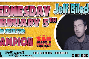 Jeff Bilodeau, Champion - The San Diego's Funniest Person Contest!