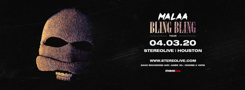 Postponed, New Date TBD - Malaa - Stereo Live Houston