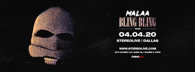 Malaa - Bling Bling Tour - Stereo Live Dallas