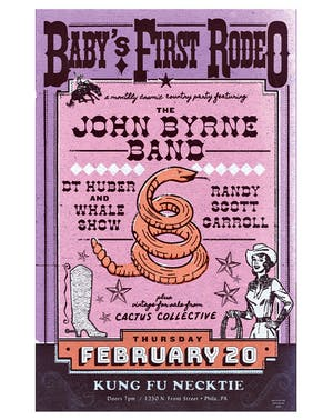 Baby's First Rodeo w/The John Byrne Band / JT Huber / Randy Scott Carroll