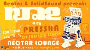 RJD2 with Pressha, DJ Indica Jones