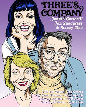 Three's Company: Jennie Cotterill, Jon Snodgrass & Stacey Dee