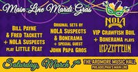 Main Line Mardi Gras: Bill & Fred  (Little Feat) + NOLA Suspects + Bonerama