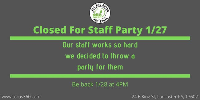 Closed for Staff Party