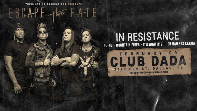 Escape The Fate at Club Dada