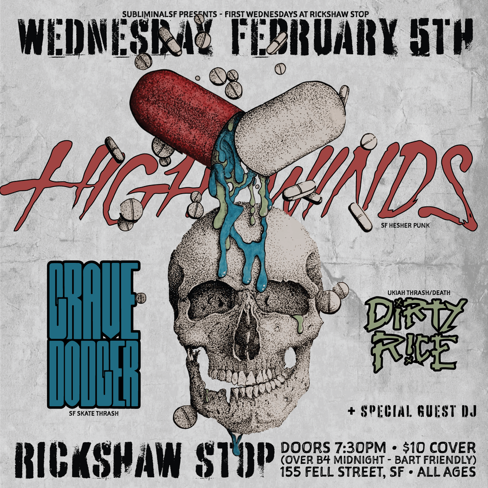 MIDWEEK METAL MADNESS w/ HIGHWINDS, GRAVEDODGER & DIRTY RICE