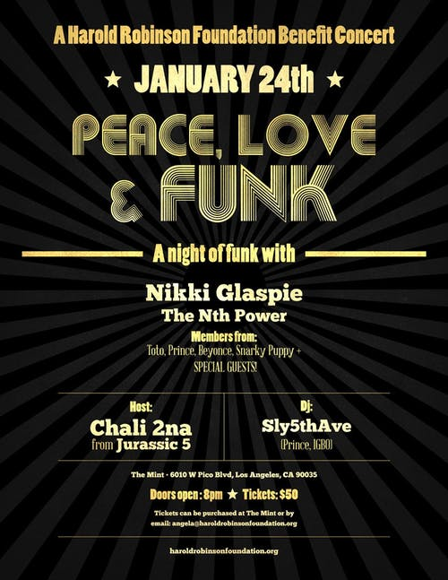 PEACE LOVE & FUNK w/Nikki Glaspie,The Nth Power, Charli 2na &Special Guests