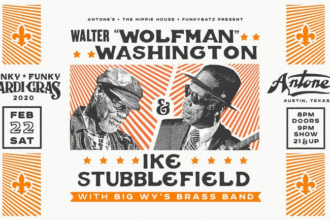 "Walter ""Wolfman"" Washington & Ike Stubblefield plus Big Wy's Brass Band"