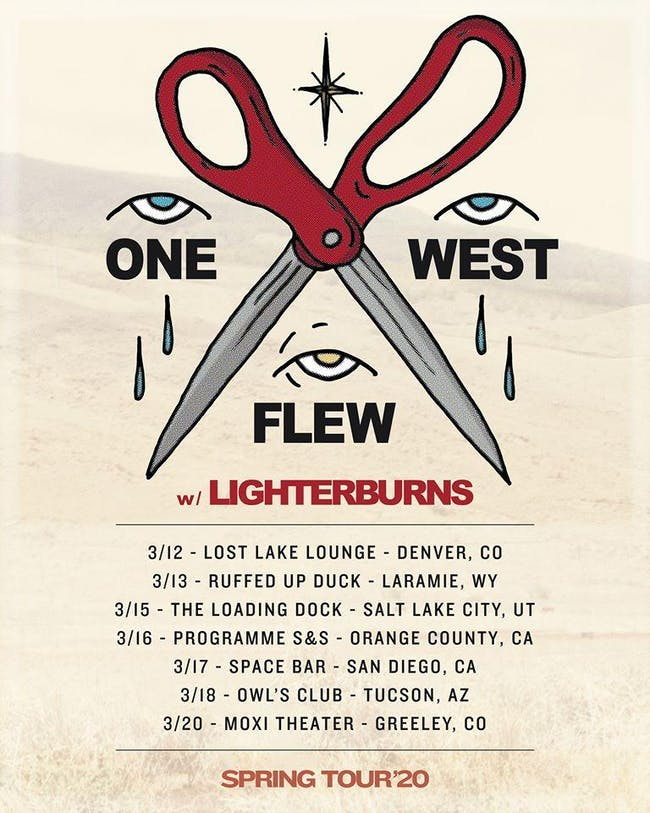 One Flew West w/ Lighterburns , Lady Denim and The Able Dogs