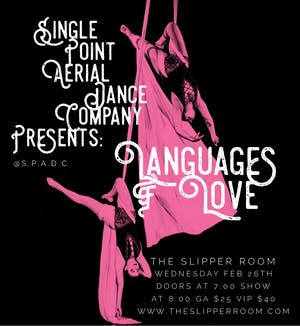 Single Point Aerial Dance Company proudly presents: Languages of Love