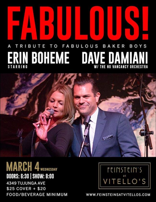 ERIN BOHEME & DAVE DAMIANI: FABULOUS! A Tribute to The Fabulous Baker Boys