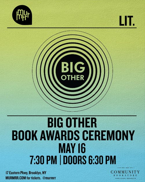 Big Other Book Awards Ceremony