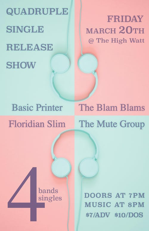 Floridian Slim / Basic Printer / The Mute Group / The Blam Blams