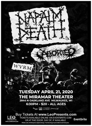 NAPALM DEATH Plus Aborted & WVRM