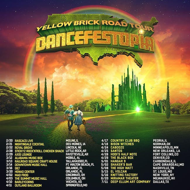 Yellow Brick Road to Dancefestopia
