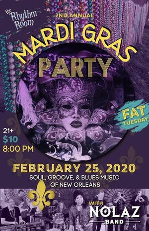 NOLAZ Fat Tuesday Mardi Gras Party