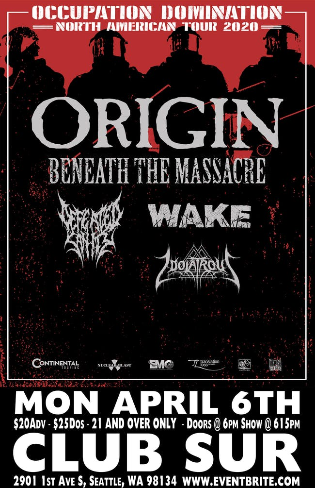 ORIGIN -Beneath the Massacre-Defeated Sanity (Show Canceled)