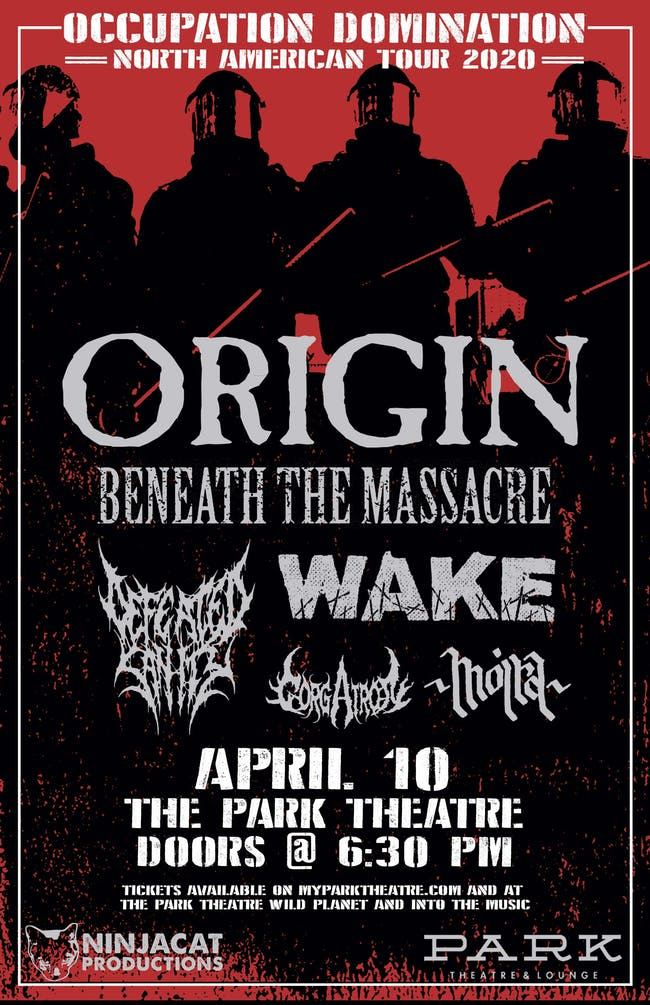 Occupation Domination tour featuring Origin and Beneath the Massacre
