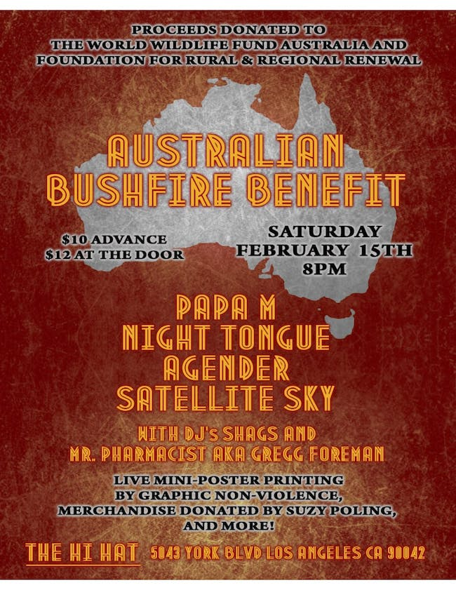 Benefit for Australia Wildfires ft. Papa M, Night Tongue, + more!