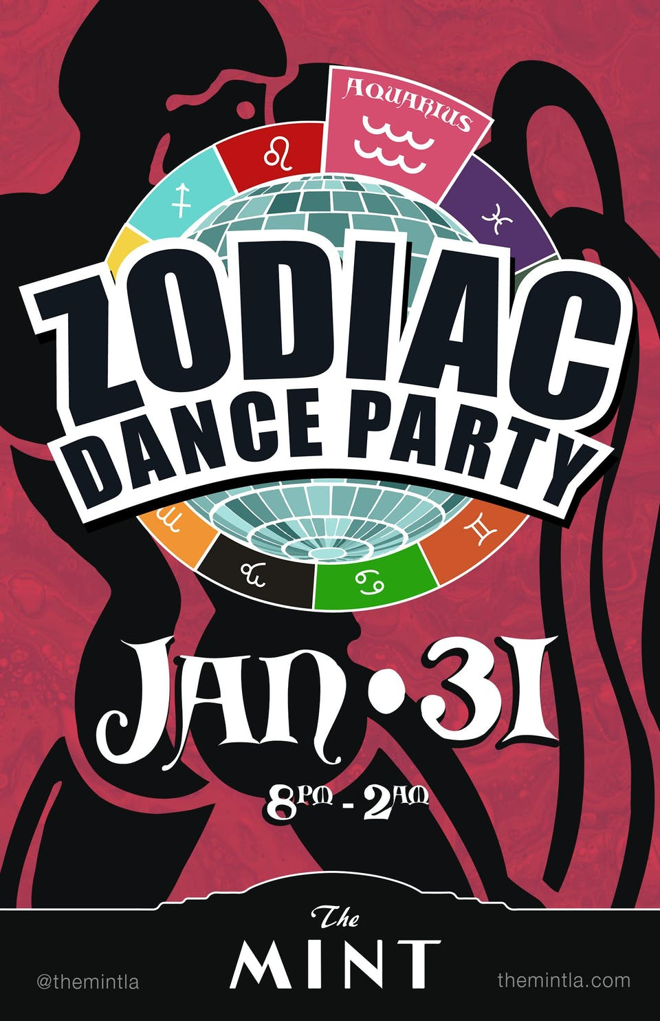 ZODIAC DANCE PARTY, CELEBRATING AQUARIUS - Free Tacos for 1st Hour!!!