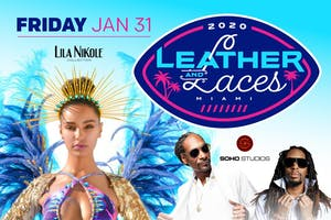 Snoop Dogg and Lil John host Leather and Laces Miami Big Game Party