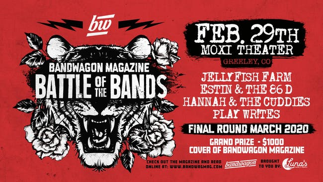 BandWagon Battle of The Bands (Round 1 : Night 4) at Moxi Theater