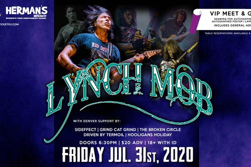 Lynch Mob Returns to Denver (postponed due to covid 19 and recent closures.