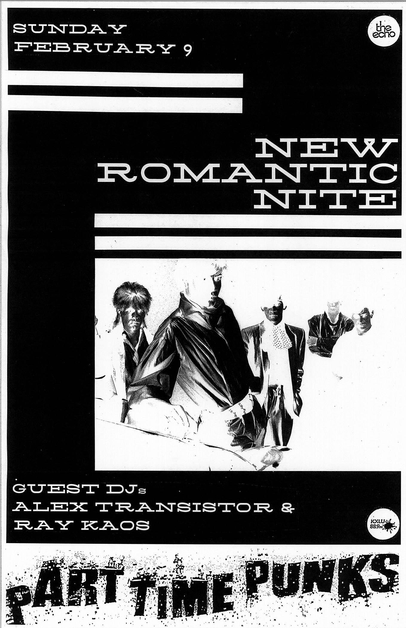NEW ROMANTIC NITE w/Guest DJs Alex Transistor & Ray Kaos