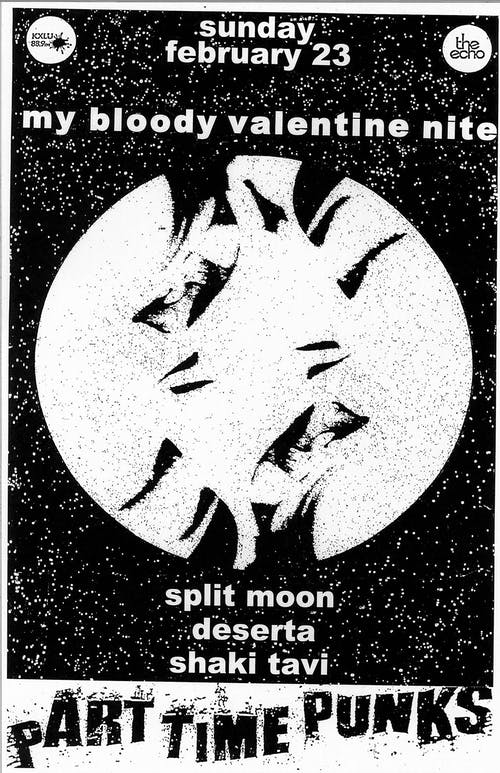 10th Annual MY BLOODY VALENTINE NITE with SPLIT MOON + DESERTA + SHAKI TAVI