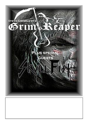 Steve Grimmett's Grim Reaper - w/ Skull Fist