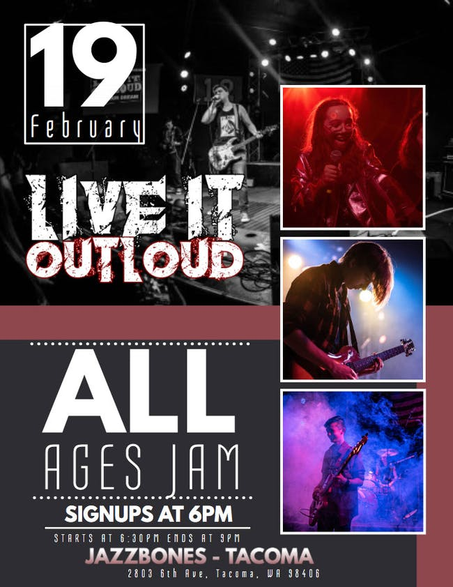 Live It Outloud - All Ages Jam