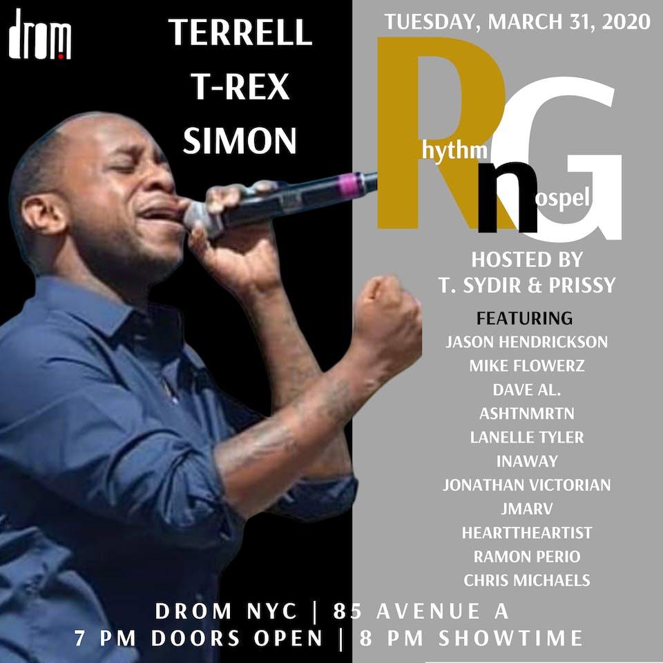 "[CANCELLED] Terrell T-Rex Simon ""Rhythm n Gospel"""