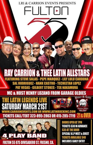 LATIN LEGENDS LIVE With Ray Carrion & Thee Latin Allstars